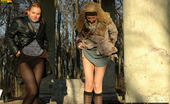 Pissing Outdoor 495811 Two Girls Outdoor Pissing On Stone ColumnsOutdoor Pissing Of Two Blonde Girlfriend Irina And Valentina As They Found Two Large Stone Column In The Forest And Piss On Them Pissing Outdoor