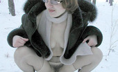 Pissing Outdoor Pissing Outdoor In The Snow Drift Is A FunOutdoor Pissing Of Nerd Teen Blonde Marina As She Goes Out In The Winter To Piss In The Snow Pissing Outdoor