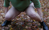 Pissing Outdoor Pissing Outdoor On Dried Leaves On A GroundPissing On Dried Leaves Which Teen Brunette Maria Has Found During Her Forest Tour When She Has Wanter To Piss Pissing Outdoor