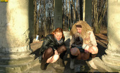 Pissing Outdoor Girls Pissing Together OutdoorTwo Blondes Irina And Valentina Pissing Outdoor Together In An Old Stone Rotunda Pissing Outdoor