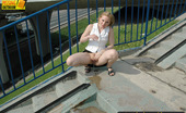 Pissing Outdoor 495937 Pissing Outdoor On The HighwayOutdoor Pissing Near The Highway Where Blonde Irina Is Walking When She Has Wanted To Piss Pissing Outdoor