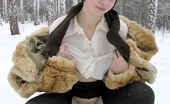 Pissing Outdoor Winter Outdoor Pissing TeenTeen Girl In Fur Coat Pissing Outdoor In The Winter Forest Pissing Outdoor