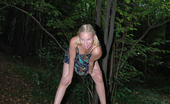 Pissing Outdoor 496033 Piss On A StubBlonde Teen Girl Piss On The Stub In A Forest Pissing Outdoor