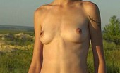 Pissing Outdoor Naked Girl PeeingNaked Playful Girl Posing And Peeing In Big Steppe Pissing Outdoor
