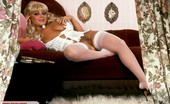 Private Classics Unknown Blonde With Juicy Pussy Babe In Sexy White Stockings Enjoys Showing Off Her Pussy Private Classics