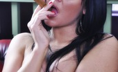 Cigar Glamour Michelle Hush Smoking A Fat Cigar Michelle Hush Exposes Her Beautiful Breasts While Smoking A Cigar Cigar Glamour