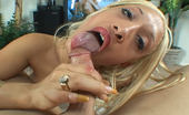 Creamed Cuties Sinn Ebony Skinned Blonde Sucks Fucks Then Takes A Nice Big Load On Her Mouth Creamed Cuties
