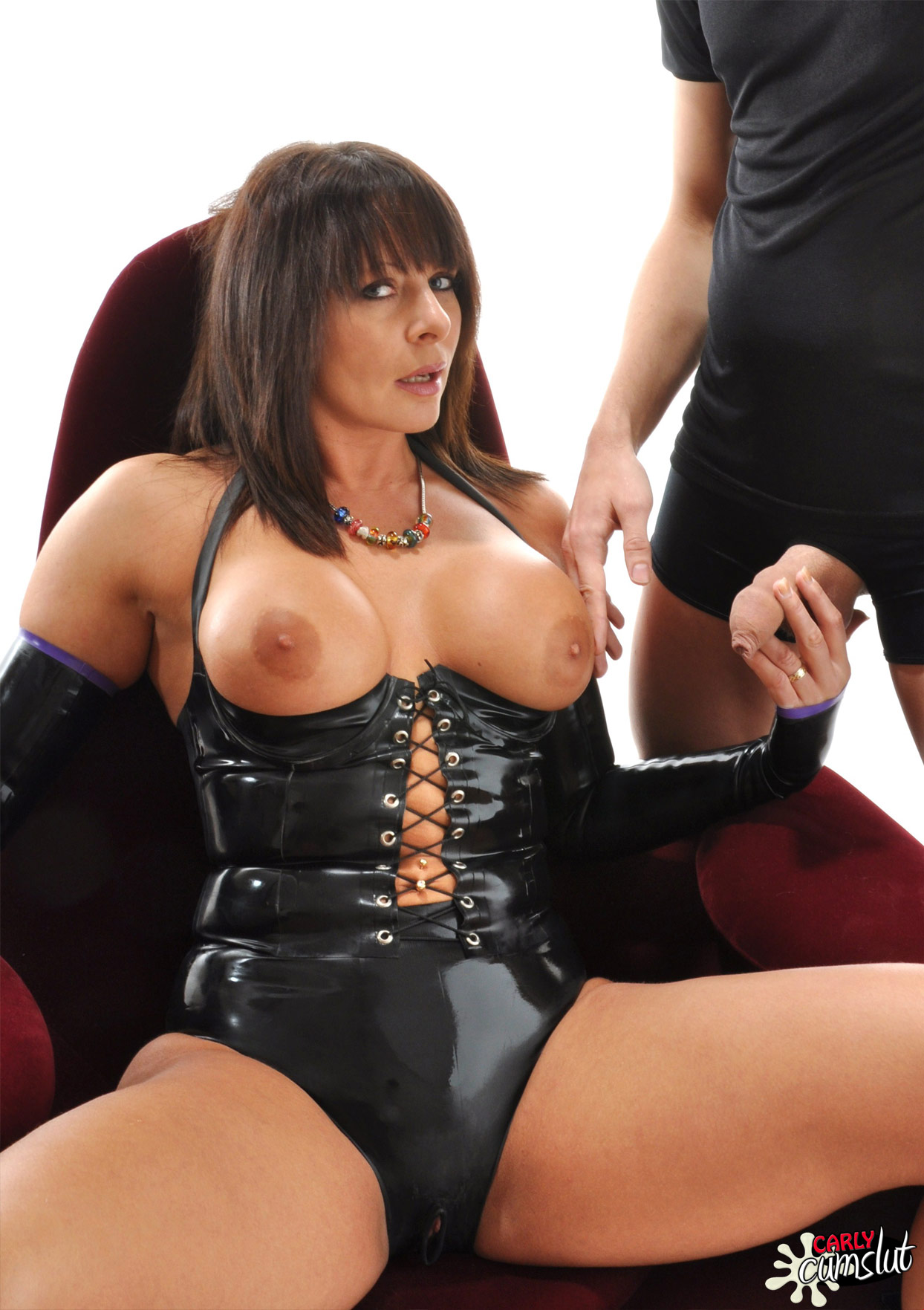 Carly Cum Slut This Crotchless PVC Outfit Was Perfect For ...