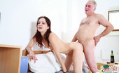 Her Old Teacher Old Teacher And Teeny Enjoy Red Wine And Sex Red Wine Makes This Teeny So Horny That She Virtually Begs The Old Teacher To Fuck Her Her Old Teacher