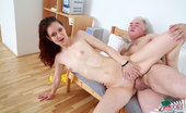 Her Old Teacher 497506 Old Teach Fucks Teeny And Cums On Her Titties Old Chubby Teacher And His Teen Lover Enjoy Blowjob, Fucking And Cumshot On A Couch Her Old Teacher