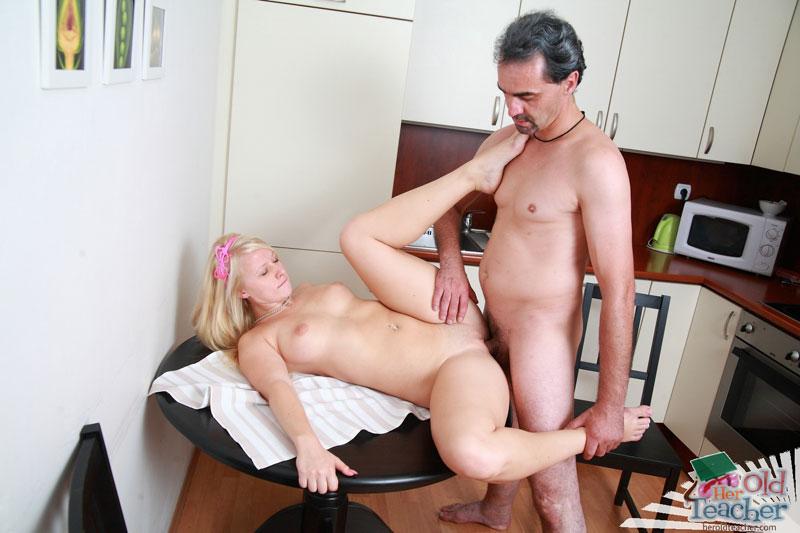 Mature Blonde Fucks Young Guy
