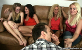 Taboo Tug Jobs Bored Hotties Bella, Farrah, Whitney And Amanda Bella, Farrah, Whitney, And Amanda Are Sitting Around Together, Bored, Waiting For Their Husbands And Boyfriends.The Doorbell Rings And There'S A Shoe Salesman Taboo Tug Jobs
