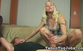 Taboo Tug Jobs Blackmailing Stepsister Julie Julie Knows A Few Things About Her Stepbrother That Will Definitely Land Him Into A Lot Of Trouble. If He Doesn'T Want Her To Tell, He Has To Let Her Play With His Cock. Taboo Tug Jobs