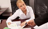 Secretary Hoes 499530 Claudia Secretary Claudia In Black Nylons Strips Secretary Hoes