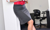 Secretary Hoes Aletta Ocean Hot Office Babe Aletta Ocean In Red Stockings And Heels Secretary Hoes