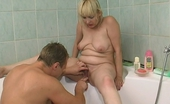 Action Matures Carol & Adrian Well-Hung Guy Playing With Succulent Pussy Of Mature Chick In The Bathroom Action Matures