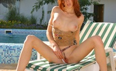 Amour Babes Hilary Extremely Hot Red-Head Strips By The Pool Extremely Hot Red-Head Teen Gives You A Great Opportunity To See Her Voluptuous Twat Spread Wide Amour Babes
