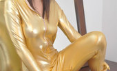 Shiny Tease Sexy Becca In A Spandex Zentai Suit Shiny Tease