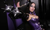 Shiny Sluts Gothic Beauty Succubus In Latex Corset Shiny Sluts