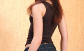 I Love Mini Skirts 503764 Shawna Elias Tall And Slender Brunette With Long Legs Poses In A Denim Mini Skirt I Love Mini Skirts