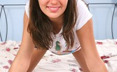 I Love Mini Skirts Kristina Zoe Lovely Teen Brunette In Blue Jean Mini Skirt Shows Her Tiny Tits I Love Mini Skirts