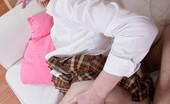 I Love Mini Skirts Naomi Taylor Lovely Redhead Hottie In Denim Mini Skirt Gets Her Cunt Pumped I Love Mini Skirts
