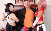Burning Angel 504149 Annie Cruz & London Lanchester & John Strong Asian Hotties Annie Cruz And London Lanchester Just Won A Cosplay Contest And It Was Time To Party.. In A Group Chat On The Internet. The Landlord John Strong Was Angry About The Noise - Thinking On Their Toes,