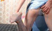 Pantyhose Colors 504906 White Pantyhose Masturbation Of MILF BlondePantyhose Masturbation Of MILF Blonde Osya Excited With Her White Pantyhose With Blue Pattern Pantyhose Colors
