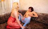 Pantyhose Colors 504950 Red And Blue Pantyhose LesbiansPantyhose Fetish MILF Lesbians Milly And Fay Enjoy Their Red And Blue Pantyhose Sex Pantyhose Colors