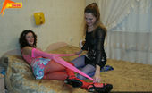 Pantyhose Colors 504969 Lesbian Sex In Red And Blue PantyhosePantyhose Fetish Teen Lesbians Sveta And Karina Wear Pink And Blue Pantyhose For Lesbian Sex Pantyhose Colors