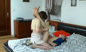 Pantyhose Jobs Irene & Marcus Girl And Her Guy Go For A Romp On The Bed Both Encased In Silky Soft Hose Pantyhose Jobs