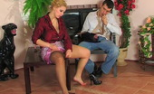Pantyhose Jobs Luba & Mark Cutie Munching On Nyloned Cock Before Pulling Down Her Sheer-To-Waist Hose Pantyhose Jobs