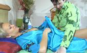 Pantyhose Jobs Dolly & Rolf Hot Babe Gives Her Pervy Guy Pantyhose Legjob And Handjob To Get Him Going Pantyhose Jobs