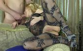 Pantyhose Jobs Blanch & Rolf Gorgeous Blonde Reveals Her Hot Patterned Bodystocking For Fetish Foreplay Pantyhose Jobs