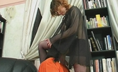 Pantyhose Line Chloe & Adrian Salacious Chick In Smooth Pantyhose Treating Blindfold Guy Like Her Sex Toy Pantyhose Line