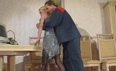 Pantyhose Line Kathleen & Mike Smashing Blondie In Barely Black Pantyhose Getting New Fucking Sensation Pantyhose Line
