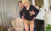 Pantyhose Line Kathleen & Morris Blondie Filming Her Pantyhosed Pussy Before Seducing Worker Into Fucking Pantyhose Line