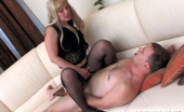 Pantyhose Line Ira & Peter Blondie In Barely Black Hose Taking Cock Up Her Pussy In Various Positions Pantyhose Line