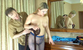 Pantyhose Line Megan & Peter Fuckable Chubby Blonde Tries On Different Hose To Indulge Her Guy'S Kinks Pantyhose Line