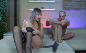 Pantyhose Line 506177 Aubrey & George Both Guy And Girl Put On Silky Smooth Tights For Kinky Nylon Fetish Bonking Pantyhose Line