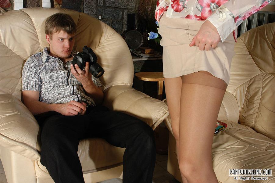 Pantyhose spy shots