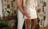 Pantyhose Line Flora & Clifford Leggy Babe Putting On A Real Strip Show Wearing Her Beloved Tan Pantyhose Pantyhose Line