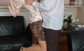 Pantyhose Line Diana & Lesley Leggy Babe Flashing Her Thong Under Pantyhose Seducing Guy Into Nylon Sex Pantyhose Line