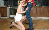 Pantyhose Line Ninette & Nathan Teasing Blonde Housewife Showing She Has Nothing Under Her Smooth Pantyhose Pantyhose Line