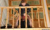 Pantyhose Line Keegan & Elliot Pantyhosed Secretary Teasing Her Boss With Her Upskirt Look On A Staircase Pantyhose Line