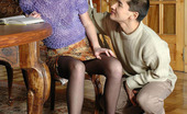 Pantyhose Line Irene & Nathan Pretty Redhead In Black Pantyhose Getting Fondled By A Hot In The Tail Guy Pantyhose Line