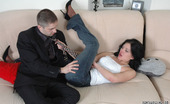 Pantyhose Line Laura & Rudolf Kinky Guy In Black Control Top Pantyhose Eagerly Getting Down To Muffdiving Pantyhose Line