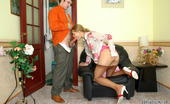 Pantyhose Line Louisa & Adam Amazing Babe Pulling Down Her Tan Tights Crying For Fucking On The Armchair Pantyhose Line