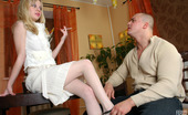 Pantyhose Line Paulina & Nicholas Awesome Babe In White Pantyhose Putting Aside Her Cig Ready For Fuck-Fest Pantyhose Line