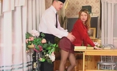 Pantyhose Tales Alice & Peter Boring Lesson Ends Up With Frenetic Fuck For Mischievous Coed In Tan Tights Pantyhose Tales